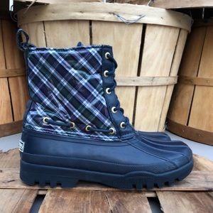 Sperry Gosling Plaid Rain Boots (Waterproof)